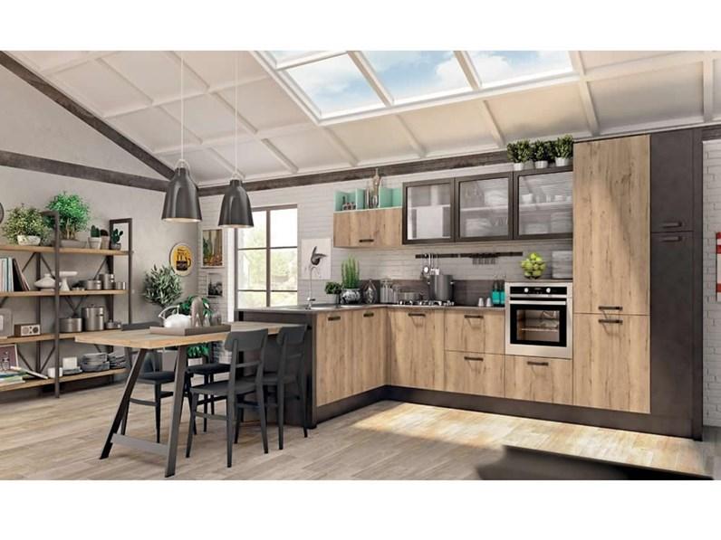 Cucina modello Kyra neck di Creo kitchens colore rovere naturale ...
