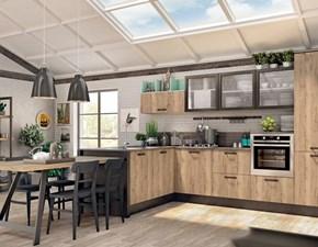 Cucina modello Kyra neck di Creo kitchens colore rovere naturale vintage/bianco opaco