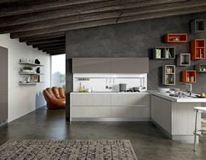 Cucina modello Line Arredo3 con penisola Su Misura personalizzabile scontata del 40%