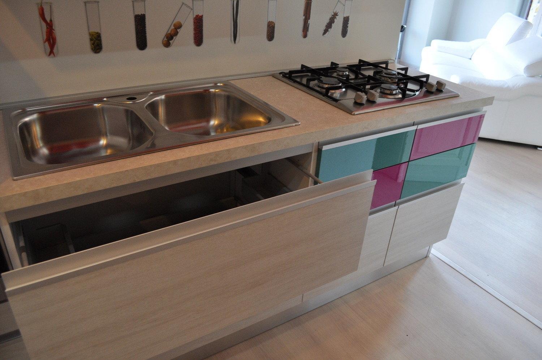 Cucina modello linea glam cucine a prezzi scontati - Tendine sottolavello cucina ...