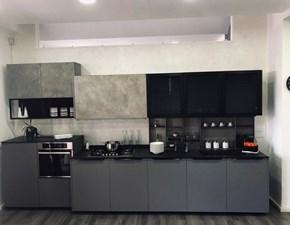 Cucina modello OLTRE by LUBE completa di tutti gli elettrodomestici