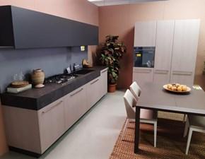 Cucina modello Opera nobilitato olmo london gray e laccato opaco grigio grafite Snaidero PREZZO SCONTATO