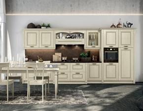 Cucina modello Verona in legno personalizzabile piano d'appoggio in quarzo.