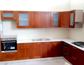 Cucina moderna ad angolo Ar-due Diamante ciliegio a prezzo ribassato
