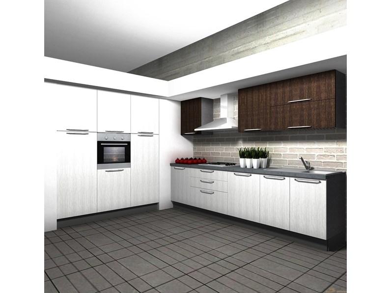 Cucina Moderna Ad Angolo Aran Cucine Cucina Tipo Mod Marylin Scontata Del 50 A Prezzo