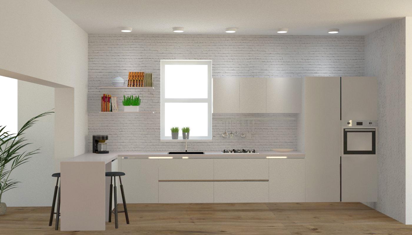 Cucina moderna ad angolo con gola elettrodomestici - Cucina con elettrodomestici ...