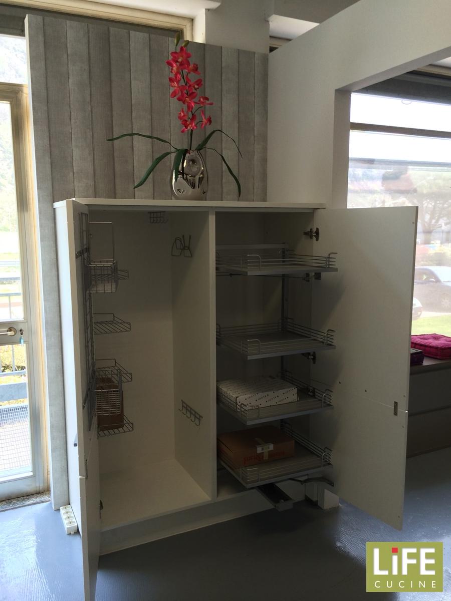 Cucina moderna ad angolo life con anta a telaio scontata - Anta cucina laminato ...