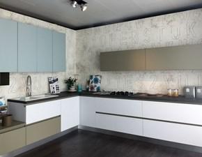 Cucina moderna ad angolo Lube cucine Immagina glaks a prezzo scontato