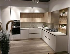 Cucina moderna ad angolo Veneta cucine Oyster a prezzo scontato