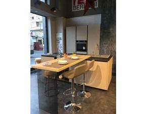 Cucina moderna ad isola Berloni cucine B50 groove a prezzo scontato