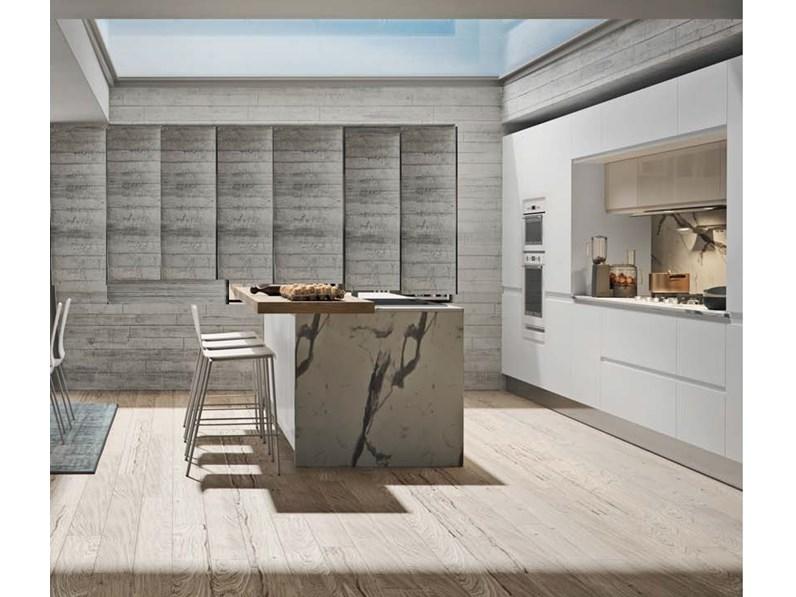 Cucina moderna ad isola nuovi mondi cucine cucina white minimal design con isola a prezzo ribassato - Cucina moderna prezzo ...