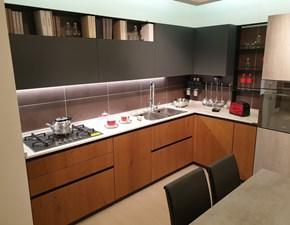Cucina moderna altri colori Arrex ad angolo Loft-wood in offerta