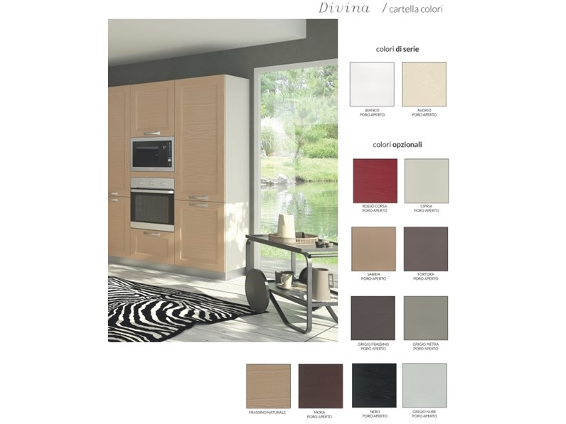 Cucina moderna altri colori artigianale lineare gioia in offerta - Colori cucina moderna ...