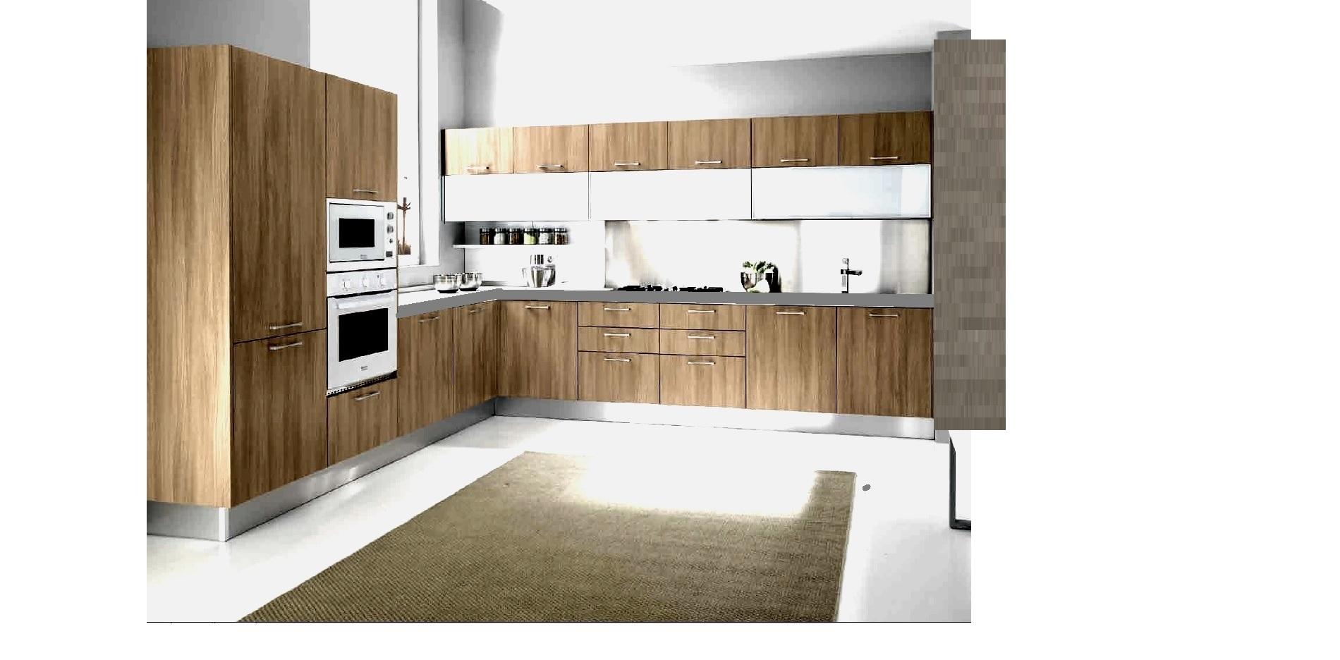 Cucina moderna angolare in stile etno industrial essenza - Cucine vecchio stile ...