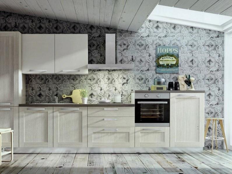 Arredo3 Cucine Moderne.Cucina Moderna Angolare Modello Cloe In Alkorcell Finitura Rovere Provenza Arredo3 Cucine
