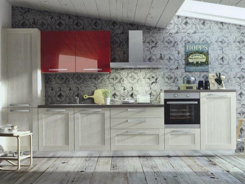 Cucina moderna angolare modello Cloe in alkorcell finitura rovere ...