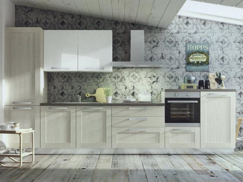 Cucina moderna angolare modello Cloe in alkorcell finitura rovere provenza  Arredo3 cucine