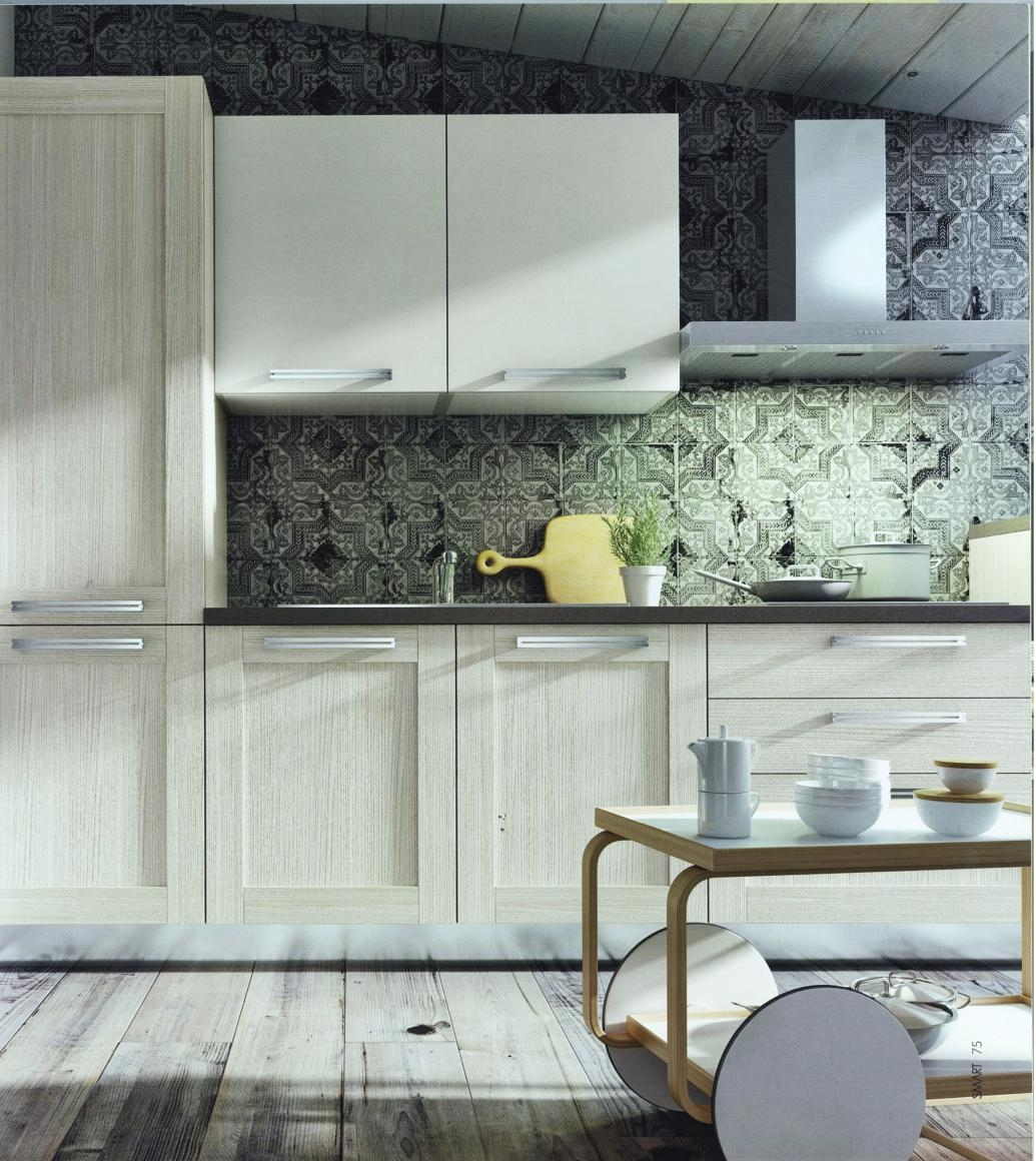 Cucina moderna angolare modello cloe in alkorcell finitura for Arredo cucina moderna