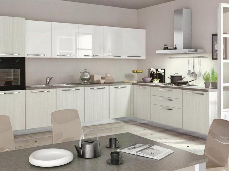 Cucina moderna angolare modello Cloe targata Arredo3 cucine