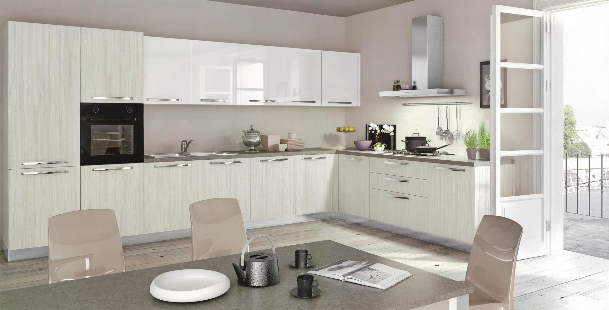 Cucina moderna angolare modello cloe targata arredo3 for Arredo cucina moderna