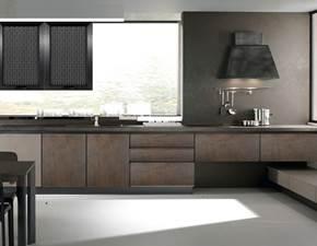cucina moderna con gola industrialeossido brown  in offerta super outlet nuovimondi