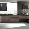 cucina moderna con gola industrialeossido brown  in offerta super outlet nuovimondi