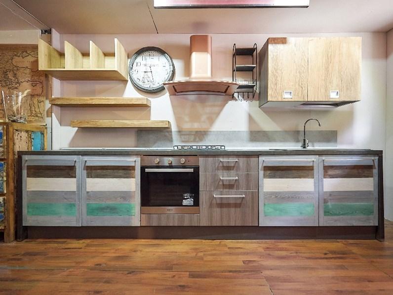 cucina moderna ante ecolor legno recicle wood in offerta prezzo outlet  nuovimondi