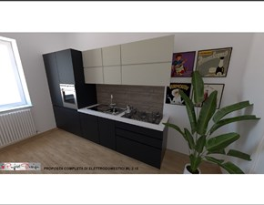 Cucina moderna antracite Astra cucine lineare Sp22 in Offerta Outlet