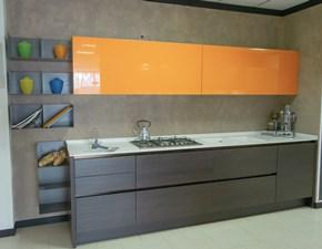 Cucina moderna arancio Euromobil lineare Filotabula in offerta