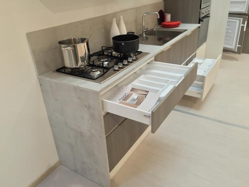 Cucina moderna astra cucine laminato materico rovere for Cucine moderne scure