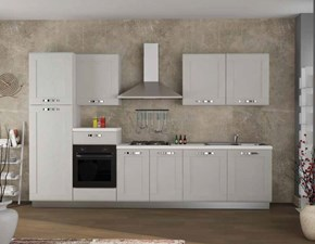 Cucina moderna bianca Aerre cucine lineare Sorrento 5 in Offerta Outlet