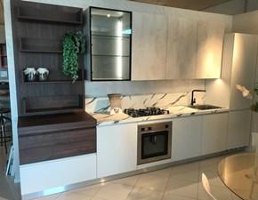 Cucina moderna bianca Ar-tre lineare Flo evo scontata