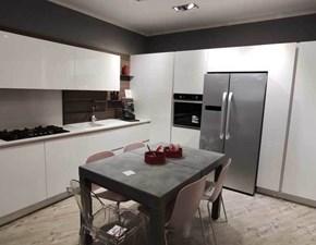 Cucina moderna bianca Arredo3 ad angolo Cloe in offerta