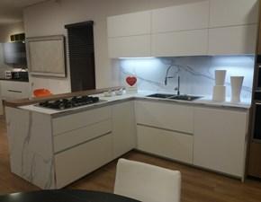 Cucina moderna bianca Arredo3 con penisola Plana kali in offerta
