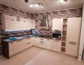 Cucina moderna bianca Arrex ad angolo Gioia decapè bianco in offerta