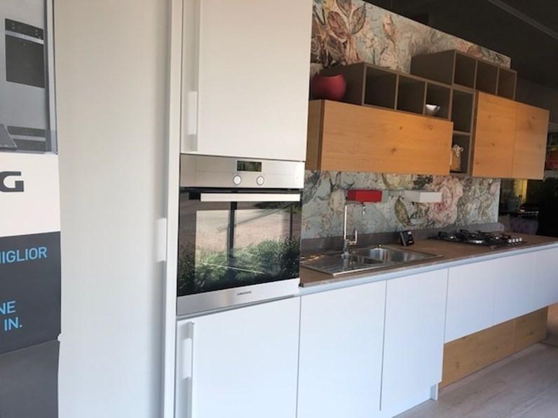 Cucina moderna bianca arrex lineare bianca in offerta - Cucina bianca moderna lineare ...