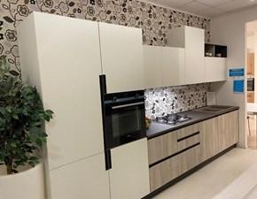 Cucina moderna bianca Arrex lineare Lab scontata