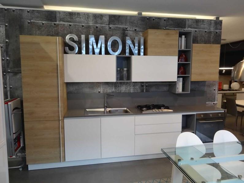Cucina moderna bianca arrex lineare oriente in offerta outlet for Simoni arreda milano