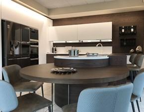 Cucina moderna bianca Artigianale ad angolo Cucina artigianale curva in Offerta Outlet