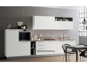 Cucina moderna bianca Artigianale lineare Pd10 in offerta