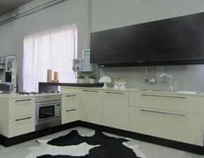Cucina moderna bianca Dada ad angolo Vela in Offerta Outlet