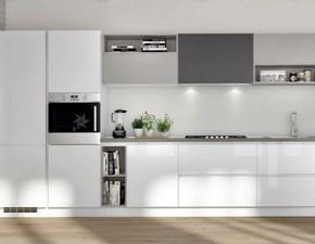 Cucina moderna bianca Dibiesse lineare Quadra  scontata