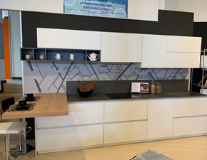 Cucina moderna bianca Doimo cucine lineare Aspen in Offerta Outlet
