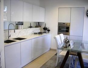 Cucina moderna bianca Essebi cucine lineare Vetro in offerta