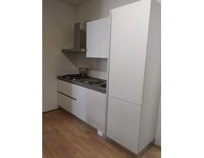 Cucina moderna bianca Giemmegi cucine lineare Kubik@ bianco in offerta