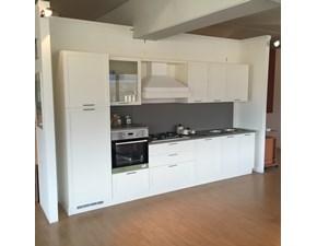 Cucina moderna bianca Le fablier lineare Melograno scontata