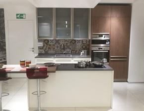 Cucina moderna bianca Lube cucine ad isola Clover in offerta