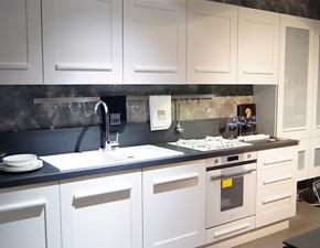 Cucina moderna bianca Lube cucine lineare Gallery scontata