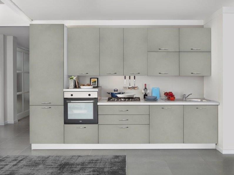Cucina moderna bianca Net cucine lineare New smart 330 in Offerta Outlet