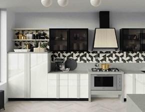 Cucina moderna bianca Nuovi mondi   Quadra industrial  in Offerta Outlet